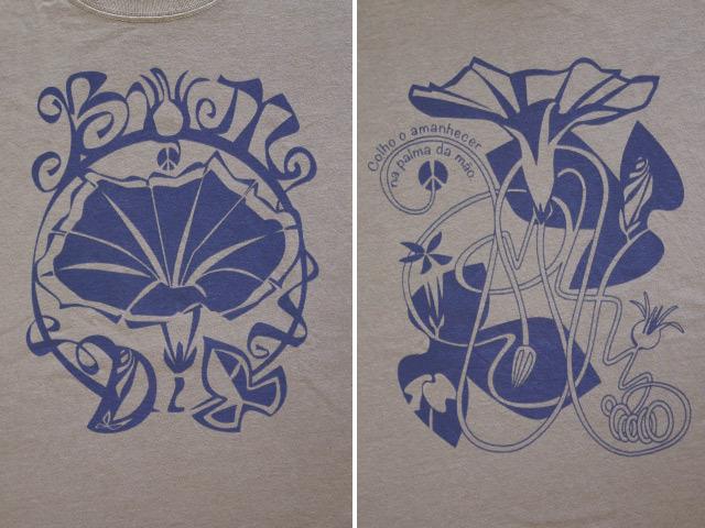 hinolismo-ヒノリズモ-迷えるTシャツ-Bom dia(ボン・ヂーア)!あさがおTシャツ