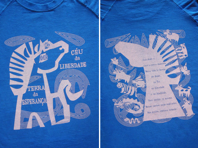 hinolismo迷えるTシャツ愛と平和と自由と平等のCAVALO(馬)