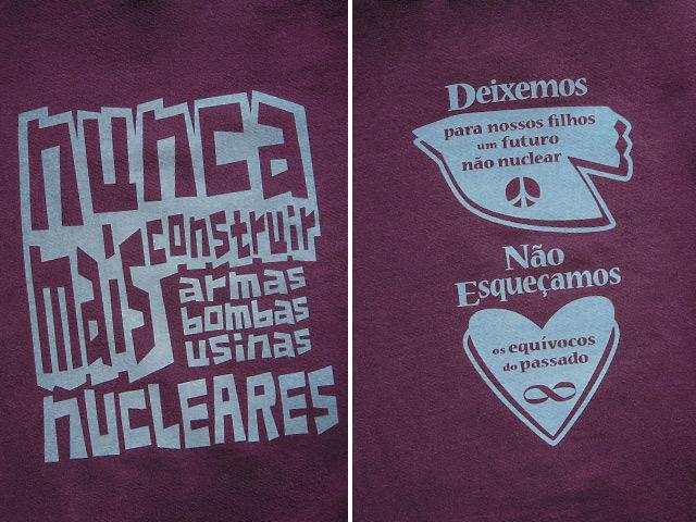 hinolismo迷えるTシャツ-NUNCA MAIS NUCLEARES-反核