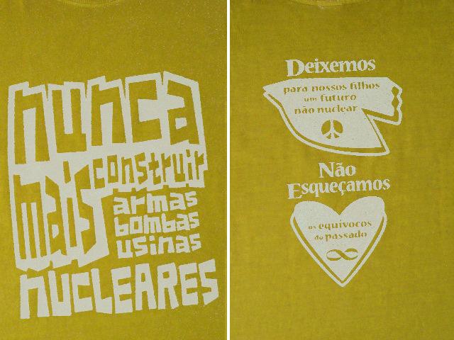 hinolismo迷えるTシャツNUNCA MAIS NUCLEARES-反核Tシャツ