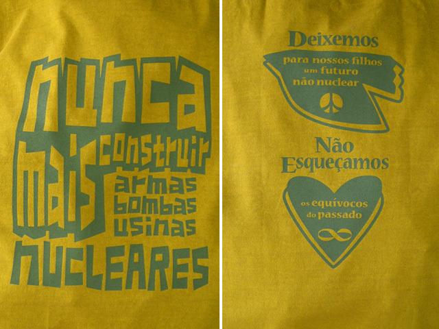 hinolismo迷えるTシャツ NUNCA MAIS NUCLEARES-反核