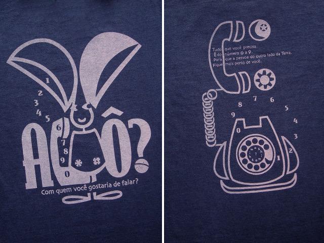 hinolismo迷えるTシャツ-Orelhao(オレリャォン)と黒電話
